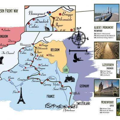 Visit Nieuwpoort - Western Front Way - Via Sacra - Wandelroute voor Vrede